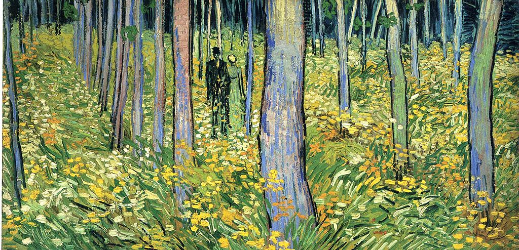Vincent van Gogh, Undergrowth with Two Figures, Oil on Canvas, 1890, Cincinnati Museum